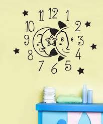 Vinyl Wall Decal Sticker Moon And Sun Clock Os Dc572 Stickerbrand