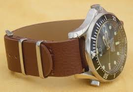 leather watch strap fit omega seamaster