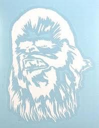 Star Wars Chewbacca White Vinyl Window Decal Sw Superstore
