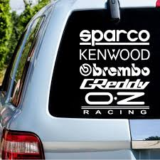 Vinyl Kit Sparco Car Sticker For Car Door Window Decoration Spanish Text Car Body Decal Styling Stickers And Decals Car Stickers Aliexpress