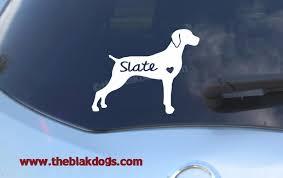 Weimaraner Silhouette Vinyl Sticker Personalized Car Decal Blakdogs Vinyl Designs