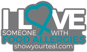 I Love Someone With Food Allergies Car Decal Show Your Teal