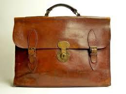 vintage leather bag briefcase satchel