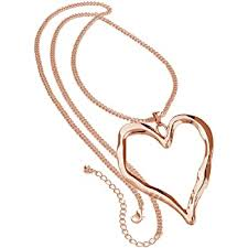 rose gold long chain very large chunky
