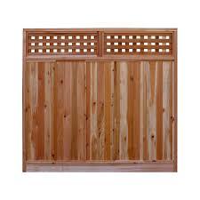 Signature Development 6 Ft H X 6 Ft W Western Red Cedar Checker Lattice Top Fence Panel Kit 6x6chekrtopfkit In 2020 Fence With Lattice Top Fence Panels Wood Fence