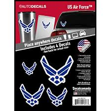 Amazon Com Officially Licensed Us Air Force Decals 4 Piece Air Force Sticker For Truck Or Car Windows Phones Tablets Laptops Large Military Decals 1 75 To 4 Inches Car