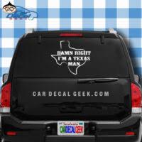 Texas Cowboy Decal Sticker