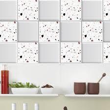 White Grey Marble Mosaic Stick Wall Tile Self Adhesive Backsplash Diy Kitchen Bathroom Home Wall Decal Sticker Nordic Wall Stickers Aliexpress