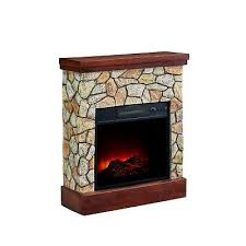 electric fireplace heater faux stone