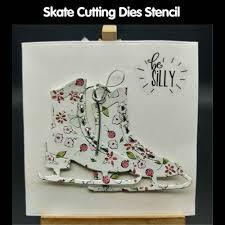 Navidad Corte Troqueles Hielo Skate Shaker Hacer Plantillas Diy