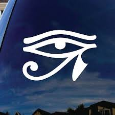 Egyptian Hieroglyphic Eye Of Horus Car Window Vinyl Decal Sticker