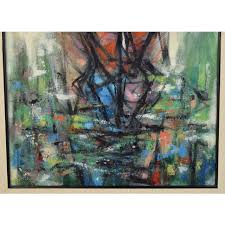 1953 Vintage Arthur Jacobson Abstract Voluptuous Nude Oil Painting ...