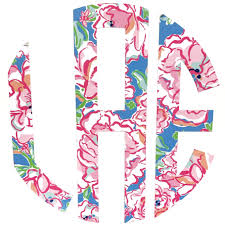 Patterned Monogram Car Decal Kathy S Kreations