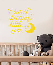 Vinyl Wall Decal Quote For Baby Room Sweet Dreams Moon Stars Stickers Wallstickers4you