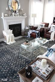 new indigo blue rugs in our living room