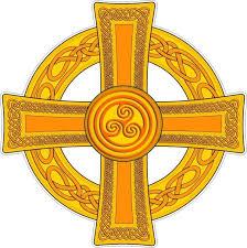 Celtic Cross Gold Vinyl Sticker Bumper Decal Religious Car Bike Knot Design 06 For Sale Online Ebay