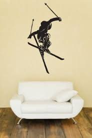 Freestyle Skiing Huge Wall Decal C Laced Up Decals Etsy Freestyle Skiing Wall Decals Vinyl Wall Art