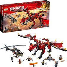 Amazon.com: LEGO NINJAGO Masters of Spinjitzu: Firstbourne 70653 Ninja Toy  Building Kit with Red Dragon Figure, Minifigures and a Helicopter (882  Pieces) (Discontinued by Manufacturer): Toys & Games