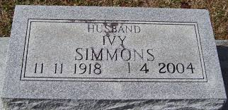 Ivy Adonial Simmons (1918-2004) - Find A Grave Memorial