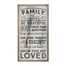 Occasionally Made Om Family Rules Wooden Wall Art Piper Lillies Gift Shoppe