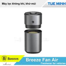 Máy khử mùi và lọc không khí dùng cho xe hơi Baseus Breeze fan Air  Freshener
