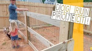 Backyard Fence Renovation The Backyard Dog Run Project Youtube