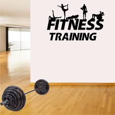 Fitness Wall Decals Gym Exercise Fitness Silhouettes Jeyfel