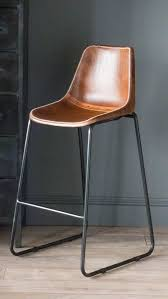 bar stool tan leather