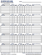 free printable exercise log and blank