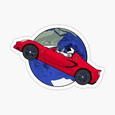 Starman Sticker By Elonmuskmemes Redbubble