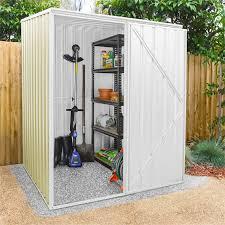 1 51 x 1 51 x 1 98m cream garden shed