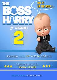 The Boss Baby Birthday Invitation Invitaciones De Cumpleanos