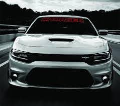 Product Dodge Charger Windshield Banner Decal 2011 2017 Hemi Rt Sxt Ralleye V6 V8