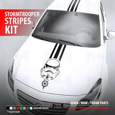 Stormtrooper Race Stripes Kit Star Wars Dark Side Car Vinyl Sticker Decal Ebay