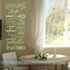 Kitchen Wall Decals Happy Home Recipe Vinyl Letters Wall Stickers