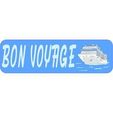 10in X 3in Bon Voyage Cruise Ship Bumper Sticker Vinyl Window Decal Walmart Com Walmart Com