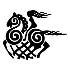 12 7cm 9 8cm Cartoon Viking Goddess Horse Vinyl Decal Black Silver Car Sticker Fashion Car Styling S6 2877 Vinyl Decal Car Stickerhorse Car Decals Aliexpress
