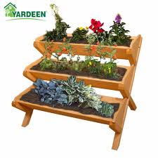 yardeen wooden plant stand raised
