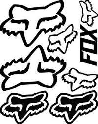 Fox Racing Vinyl Decal Sticker 9 5 X 12 5 Sheet Assorted Cars Atvs Mx Racing Ebay