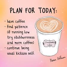 plan for today sweatpants coffee facebook