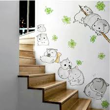 Hamster Totoro Wall Stickers Kids Nursery Children Room Cartoon Kawaii Mur Kz For Sale Online