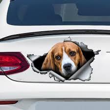 Beagle Car Decal Beagle Sticker Car Decoration Etsy