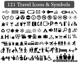 travel icons and symbols vector