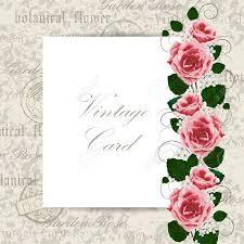 Ilustracion Vectorial De Una Tarjeta Vintage Con Flores Para El