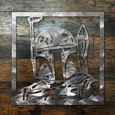 Boba Fett Square Metal Wall Art Sign Zug Monster