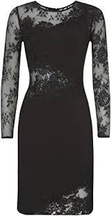Forever Unique Women's Myrtle Long Sleeve Cocktail Dress, Black, Size 14:  Amazon.co.uk: Clothing