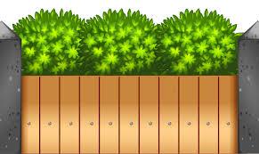 Green Grass Background Clipart Fence Garden Green Transparent Clip Art