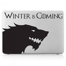 Stark House Sigil Winter Is Coming Laptop Macbook Vinyl Decal Sticker