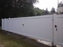 Vinyl Fence Drive Gate Anchor Fence Fence Installation Company Serving All Of Michigan Since 1892