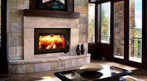 wood burning stove or fireplace